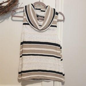 Anthropologie Cowl Neck Sweater Tank